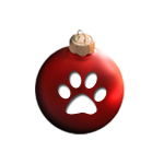 paw print christmas ball